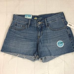 NWT Old Navy Low Rise Cut Off Shorts - Medium Blue